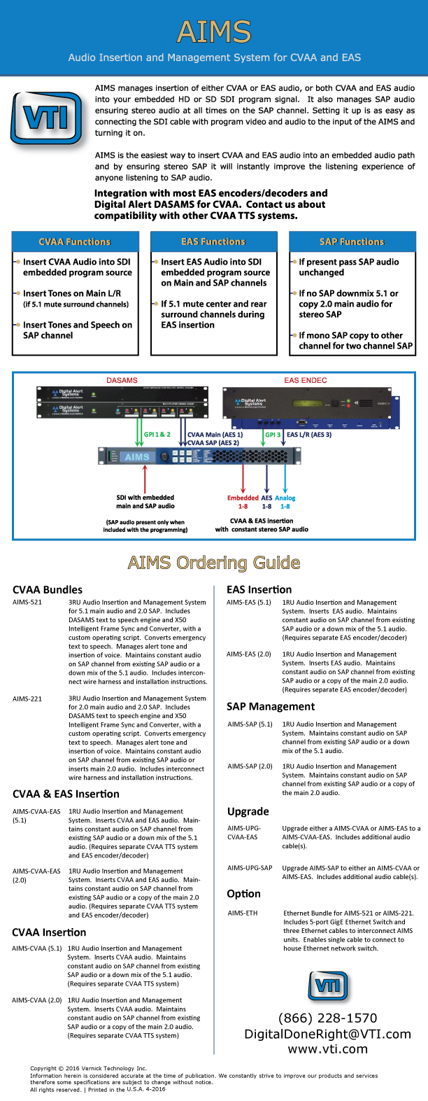 AIMS Audio Insertion & Management for CVAA, SAP & EAS